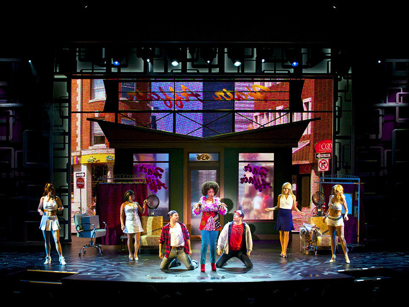 Legally Blonde Borovay Design Inc Projection Design And Consulting Broadway Productions